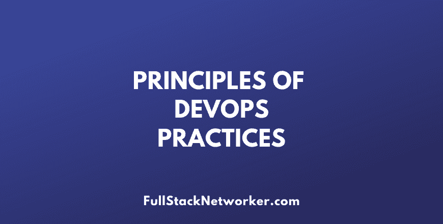 principles of devops practices