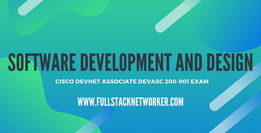 cisco devnet associate certified software development and design