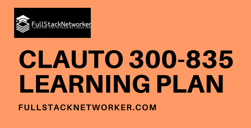 clauto 300-835 learning plan