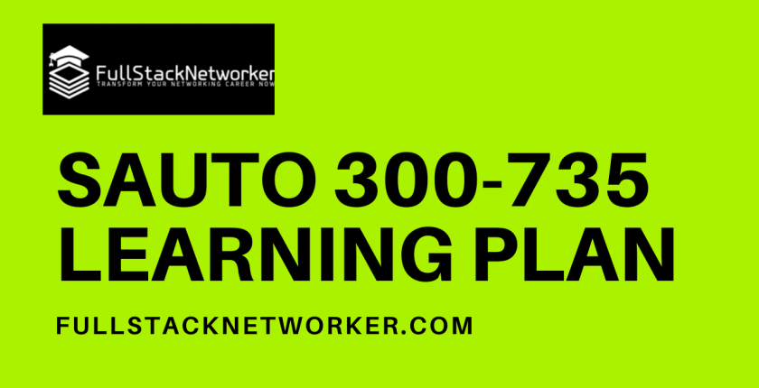 suato 300-735 exam learning plan